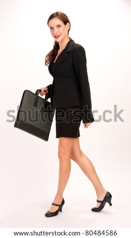 Attractive Girl with Portfolio Hoping to Become Business Woman
