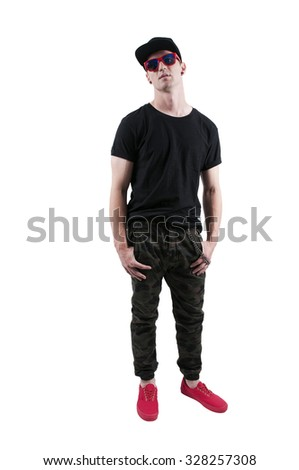 Attractive handsome American or European young man - stock photo