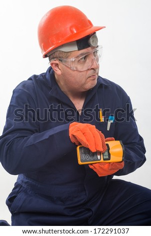 Attractive hispanic construction worker