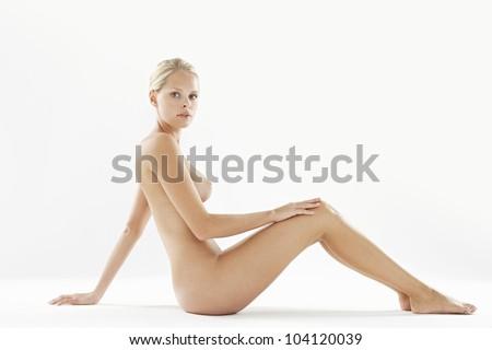 Naked Women Arms Up Facing Camera Stock Photos and