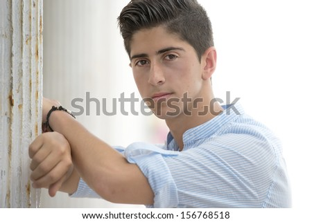 attractive portrait young adult  - stock photo