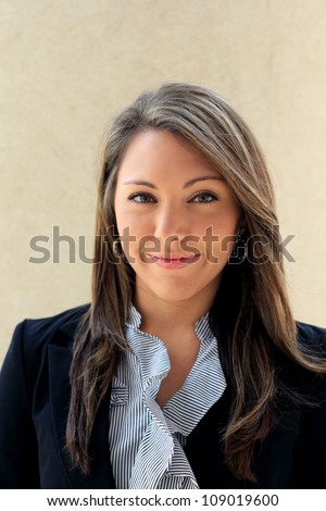 Attractive Professional Business Woman Smiling - stock photo