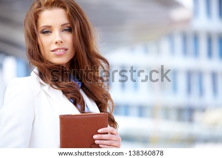 Attractive Real Estate Agent Woman - stock photo
