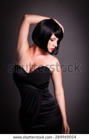 attractive seductive woman - stock photo