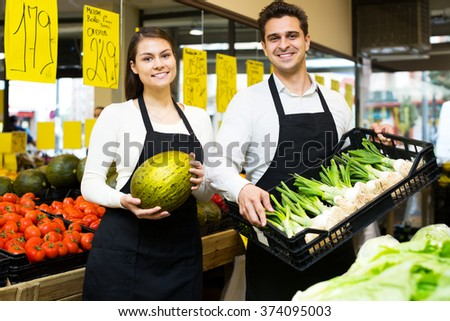 Attractive sellers offering good price for vegetables and fruits