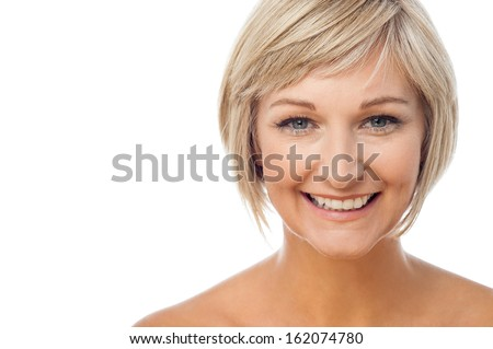 Attractive smiling middle aged woman - stock photo