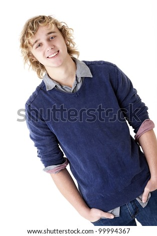 attractive smiling young man