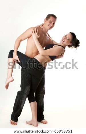 attractive sport couple - stock photo