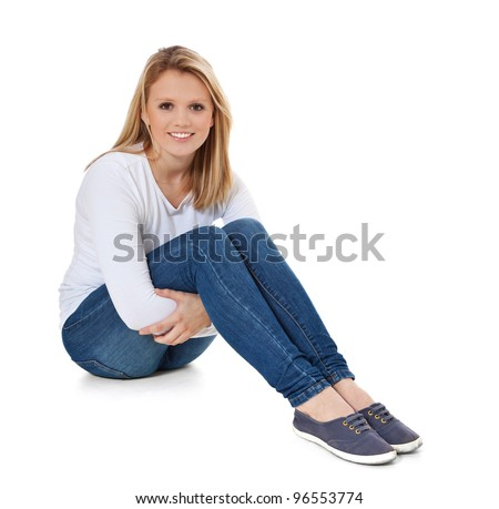 woman sitting on floor stock images royalty free images vectors shutterstock. Black Bedroom Furniture Sets. Home Design Ideas
