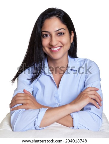 Attractive turkish woman on a pillow - stock photo