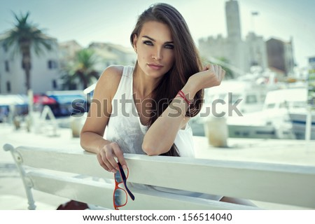 Attractive woman  - stock photo
