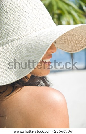 attractive woman at the beach