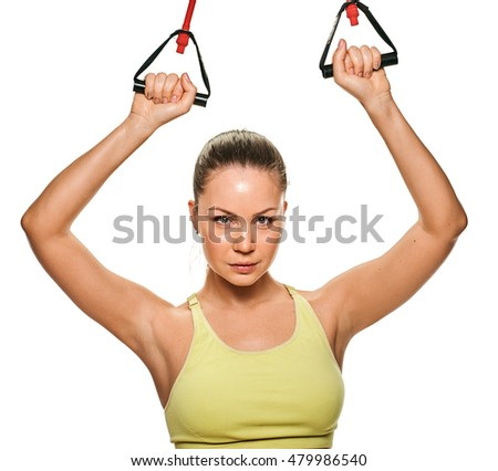 attractive woman fitness. sporty portrait