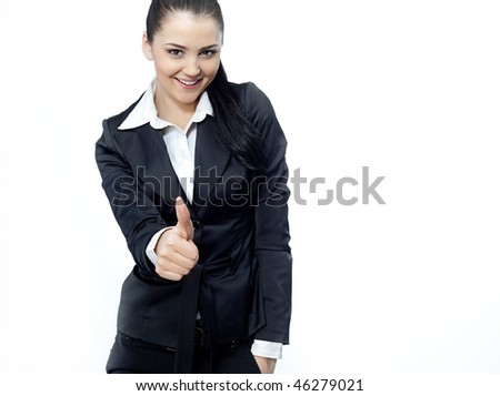 attractive woman in suit