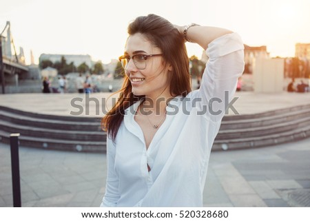 Woman White Shirt Stock Images, Royalty-Free Images & Vectors ...