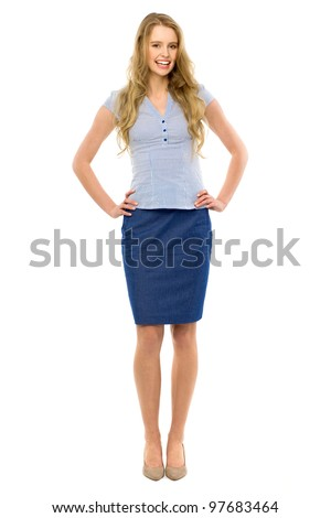 Attractive woman standing - stock photo