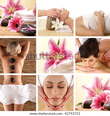 Attractive women getting spa treatment