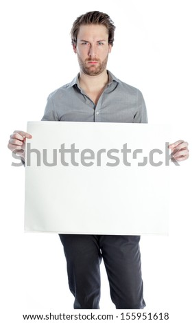 Attractive 30 years old caucasion man shot in studio isolated on a white background