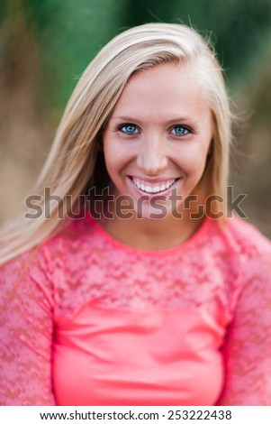 Attractive Young Blond Woman - stock photo