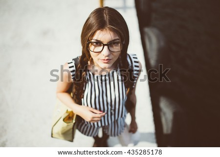 Attractive young brunette girl â?? Stock Image - stock photo