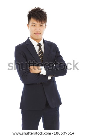 attractive young businessman - stock photo