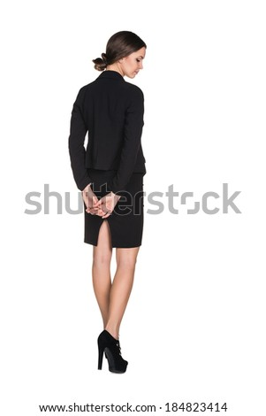 Attractive Young Businesswoman isolated on white - stock photo