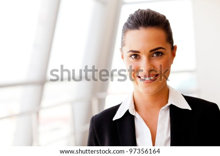 attractive young businesswoman portrait - stock photo