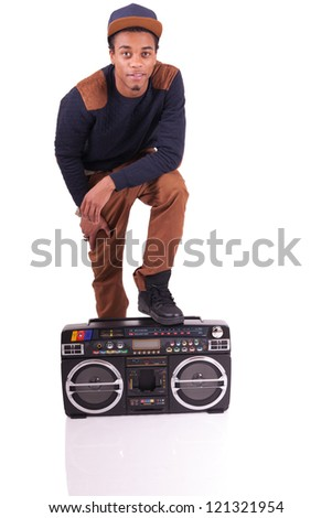 Attractive young cool hip hop - stock photo