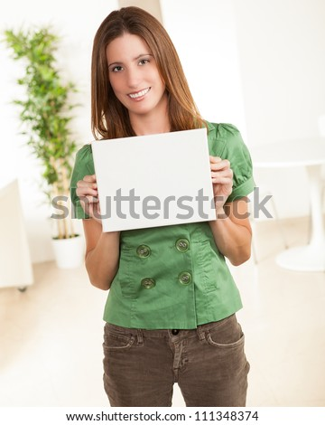 Attractive Young Female Wearing Green Shirt Stock Photo 111348308 ...