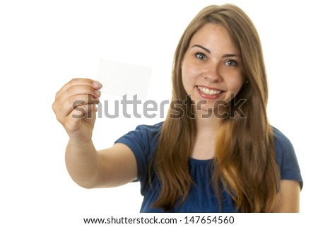 Attractive young lady paying with a credit or debit card - stock photo
