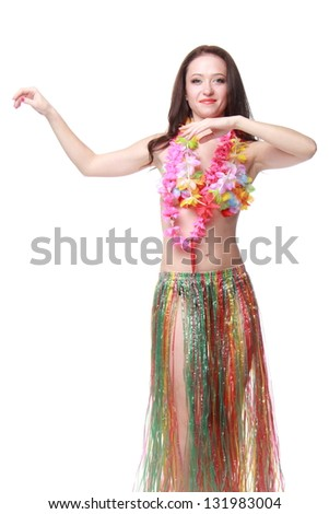 Attractive young woman in a beautiful dress for Halloween Masquerade Ball and dance