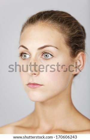 Attractive young woman in a beauty style pose