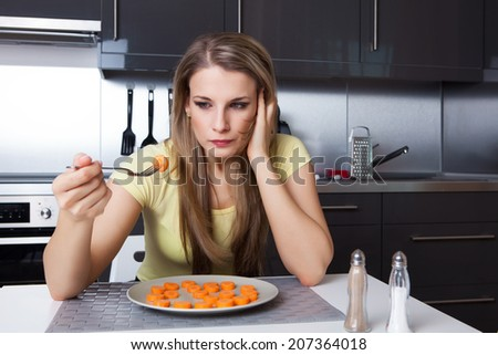 Attractive young woman thinking about her lifestyle