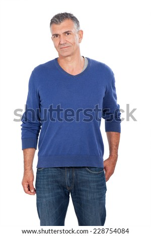 Attraktiver Mann - stock photo