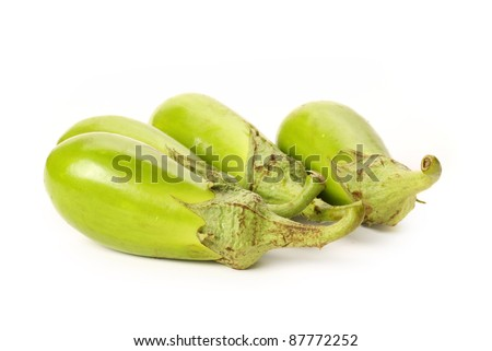 aubergine isolated on white background - stock photo