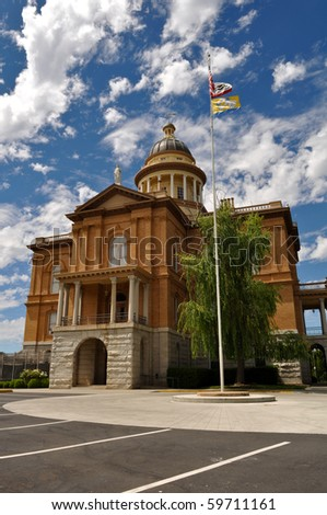 Auburn California Historic Landmark Courthouse in Placer County - stock photo