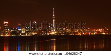 Auckland at night