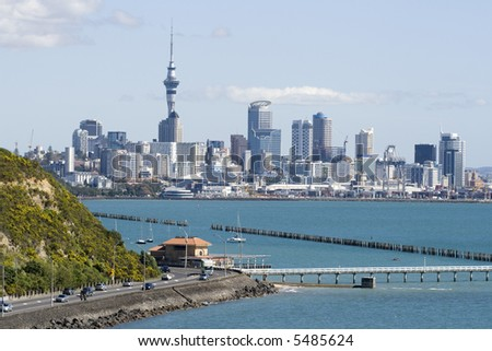 Auckland City CBD with Jetty