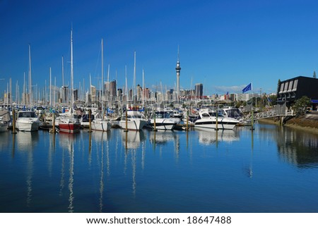 Auckland, city of sails, New Zealand - stock photo