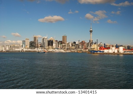 Auckland downtown - stock photo