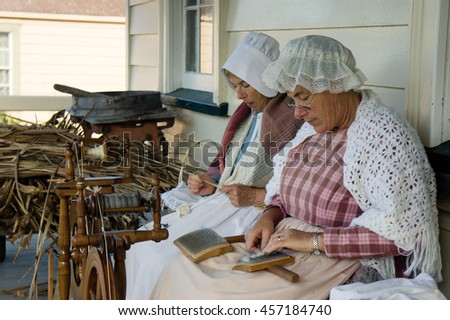 AUCKLAND - JUNE 18: Portrait of volunteers during Howick Historical Village show on June 18, 2012