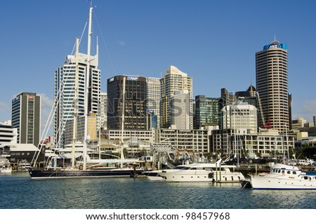 AUCKLAND- MARCH 25: The harbourside city of Auckland (population 1.5 million) is the largest and fastest-growing city in New Zealand, on March 25, 2012 in Auckland, New Zealand. - stock photo