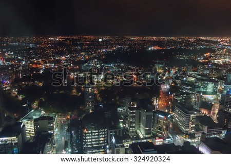 AUCKLAND, NEW ZEALAND - JUNE 08, 2015: Night view of the city