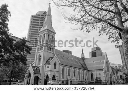 AUCKLAND, NEW ZEALAND - JUNE 09, 2015: Saint Patrick cathedral church
