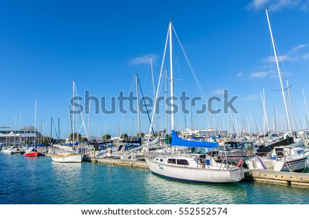 Auckland,New Zealand - October 25,2015 : Westhaven Marina is the largest yacht marina in Auckland,New Zealand.