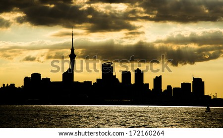 Auckland, New Zealand - the largest and most populous urban area in the country - stock photo
