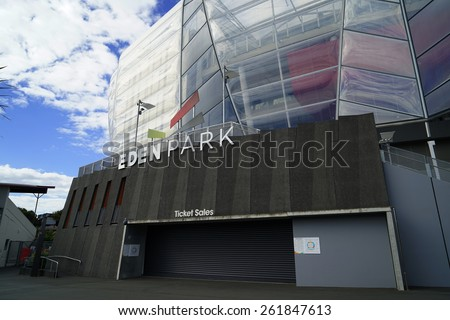 AUCKLAND NZ-Mar.15: The Eden Park Stadium, the home of Auckland Cricket and Auckland Rugby.  It's a history full of rich sporting moments.The Park is located in the heart of Auckland.