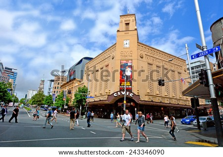 AUCKLAND, NZ - MAY 29 2015: Auckland Civic Theatre on May 29 2013.It's one of the only seven of its style (Atmospheric theatre) remaining in the world. - stock photo