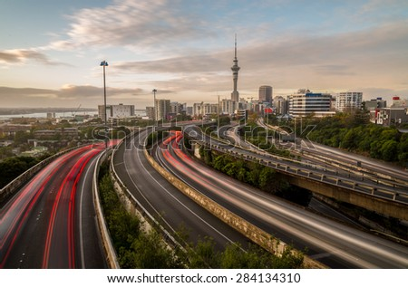 Auckland Sky Tower - stock photo