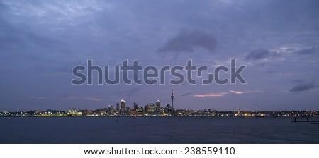 Auckland skyline, New Zealand - stock photo